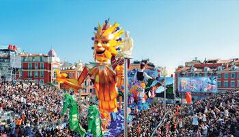 Carnaval de Nice sur la Côte d'Azur