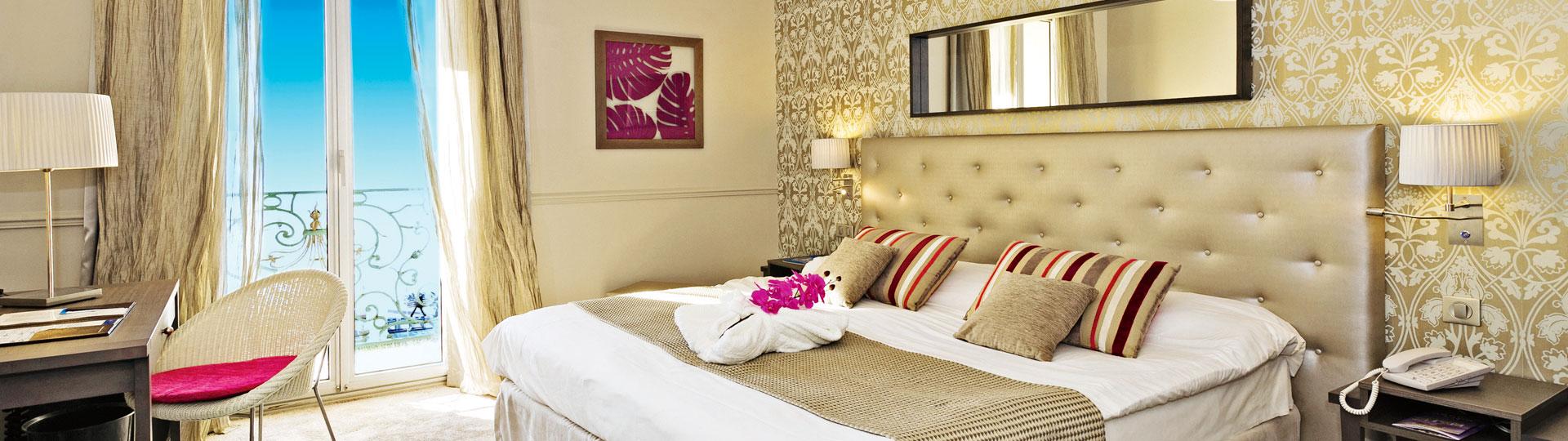 Chambre privilège de l'hôtel*** Le Royal à Nice