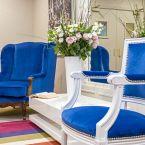 Salon bleu de l'hôtel Le Royal à Nice