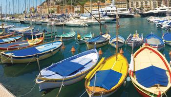 Port de Cagnes-sur-mer sur la côte d'Azur