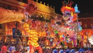 Carnaval de Nice 2017 proche de l'hôtel Le Royal*** à Nice