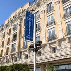 L'hôtel Le Royal à Nice vue de l'extérieur
