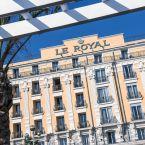 Façade extérieur de l'hôtel Le Royal à Nice