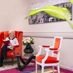 Salon rouge de l'hôtel Le Royal à Nice