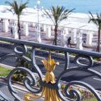 Vue sur la baie des anges de l'hôtel le Royal à Nice